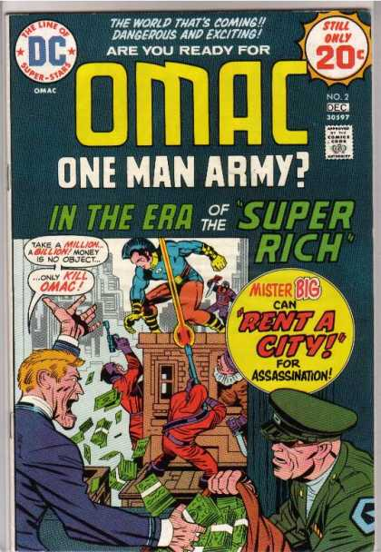 Omac 2 - Mister Big - Rent A City - Money - Era Of Super Rich - Kill Omac - Jack Kirby, Renato Guedes