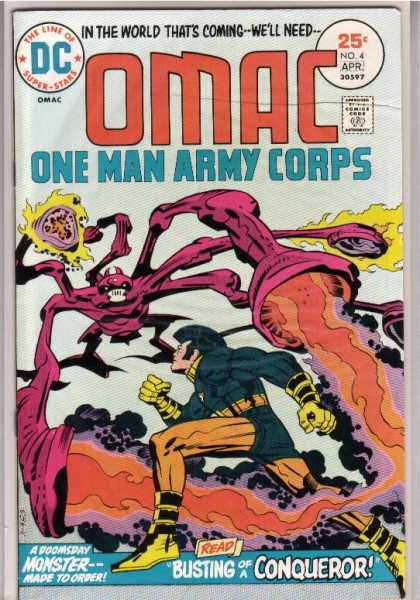 Omac 4 - Dc - Super Stars - One Man Army Corps - A Doomsday Monster - Busting Of Conqueror - Jack Kirby, Renato Guedes