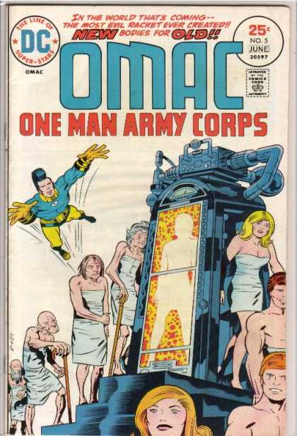 Omac 5 - Dc - The Line Of Superstars - Approved By The Comics Code Authority - One Man Army Corps - June - Jack Kirby, Renato Guedes
