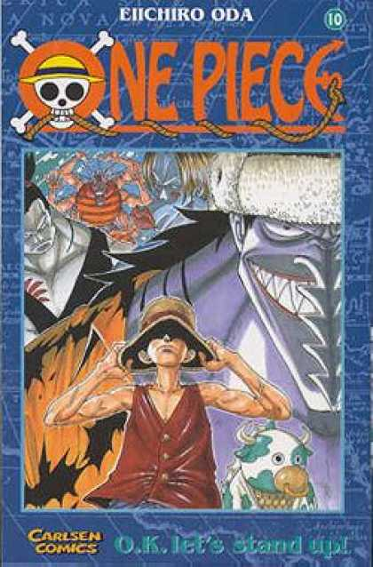 One Piece 10 - Carlsen Comics - Jolly Roger - Grin - Bug - Hat