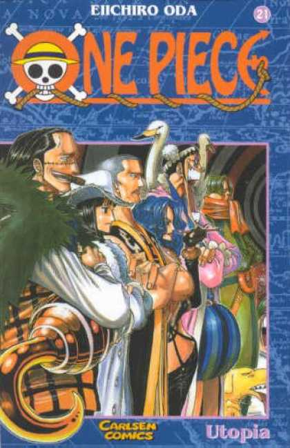 One Piece 21 - Eiichiro Oda - Pirates - Swans - Hook - Skull U0026 Crossbones
