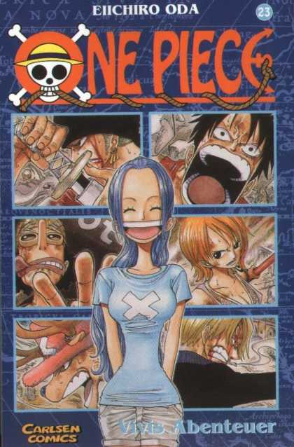 One Piece 22 - Big Mouths - Knife - Scary - Carlsen Comics - Blue Hair