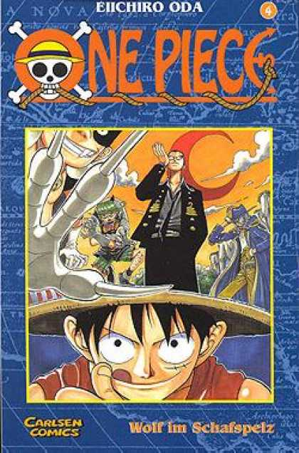 One Piece 4 - Map - Moon - Captain - Eiichiro Oda - Carlsen Comics