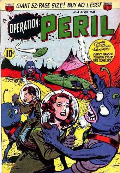 Operation Peril 4 - Giant 52-page Size - Buy No Less - Alien - Man - Space Ship