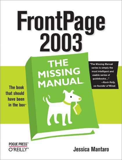 O'Reilly Books - FrontPage 2003: The Missing Manual