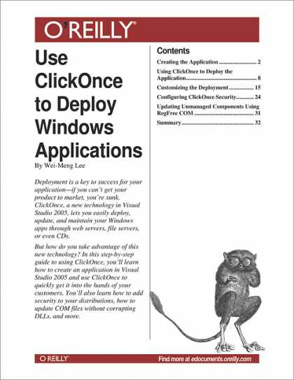 O'Reilly Books - Use ClickOnce to Deploy Windows Applications