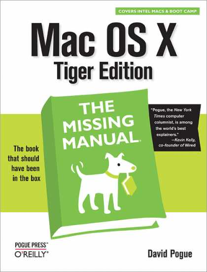 O'Reilly Books - Mac OS X: The Missing Manual, Tiger Edition