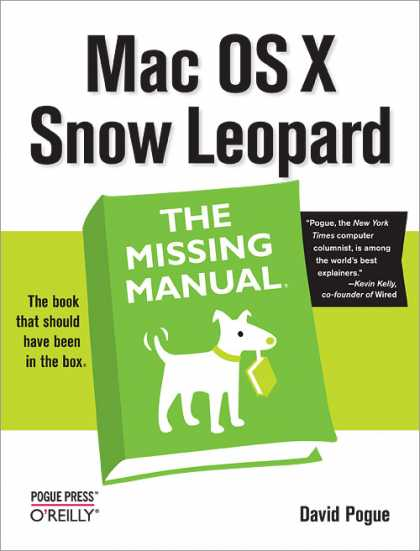 O'Reilly Books - Mac OS X Snow Leopard: The Missing Manual