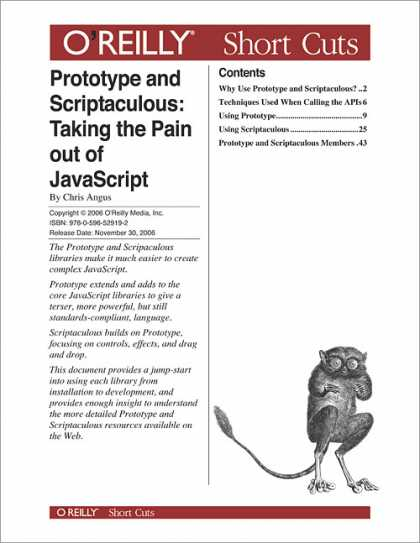 O'Reilly Books - Prototype and Scriptaculous: Taking the Pain out of JavaScript