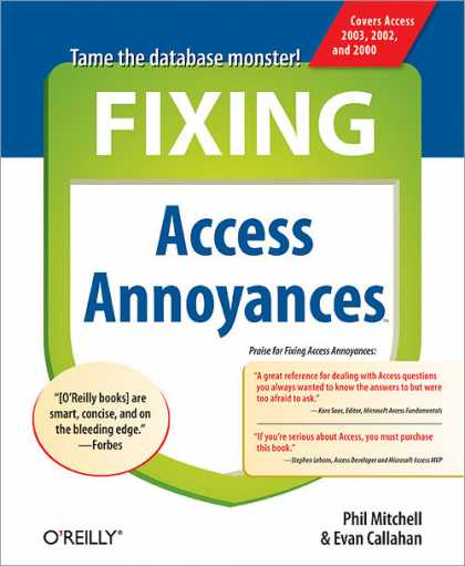 O'Reilly Books - Fixing Access Annoyances