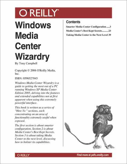 O'Reilly Books - Windows Media Center Wizardry