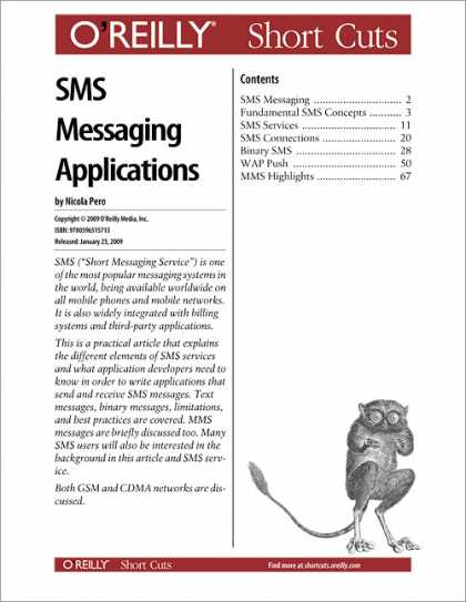 O'Reilly Books - SMS Messaging Applications