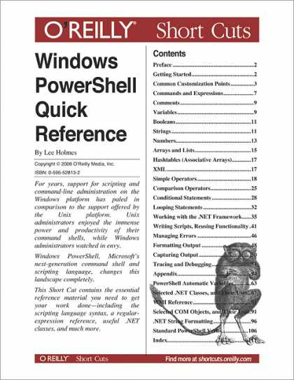 O'Reilly Books - Windows PowerShell Quick Reference