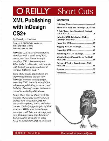 O'Reilly Books - XML Publishing with InDesign CS2+