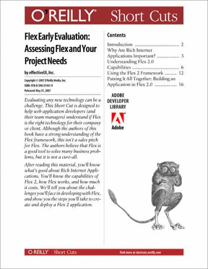 O'Reilly Books - Flex Early Evaluation: Assessing Flex and Your Project Needs