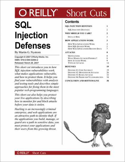 O'Reilly Books - SQL Injection Defenses
