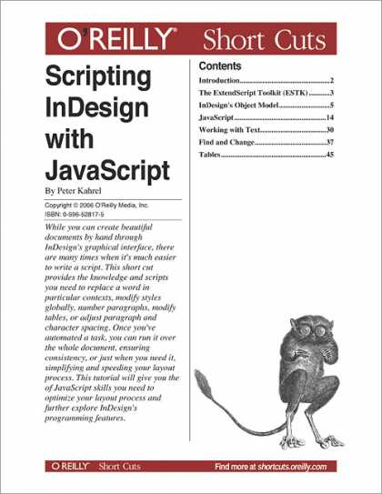 O'Reilly Books - Scripting InDesign with JavaScript