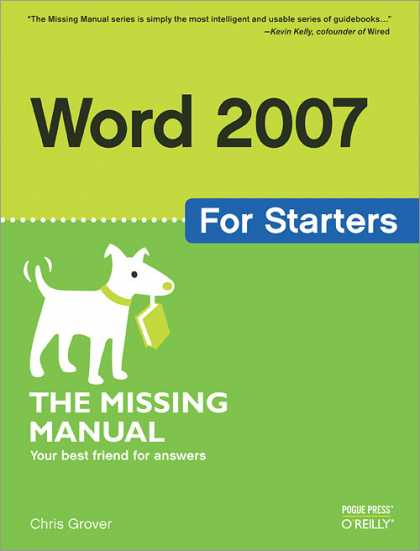 O'Reilly Books - Word 2007 for Starters: The Missing Manual