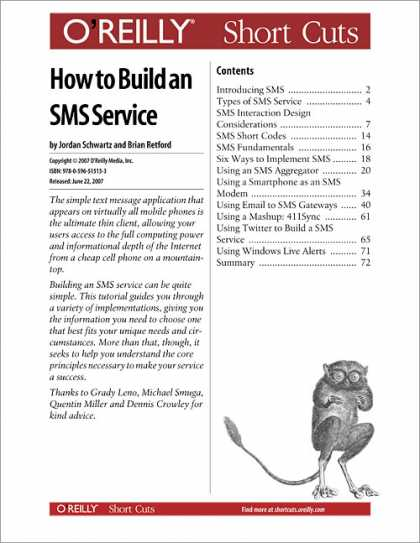 O'Reilly Books - How to Build an SMS Service