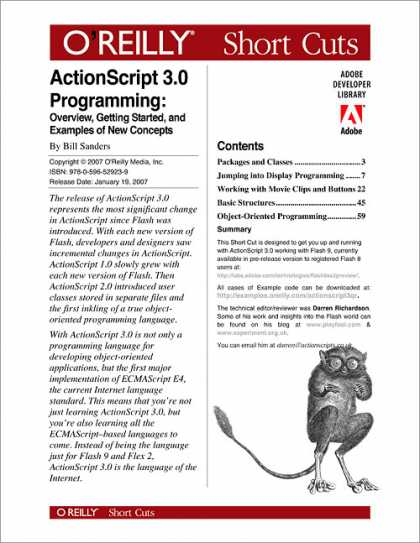 O'Reilly Books - ActionScript 3.0 Programming: Overview, Getting Started, and Examples of New Con