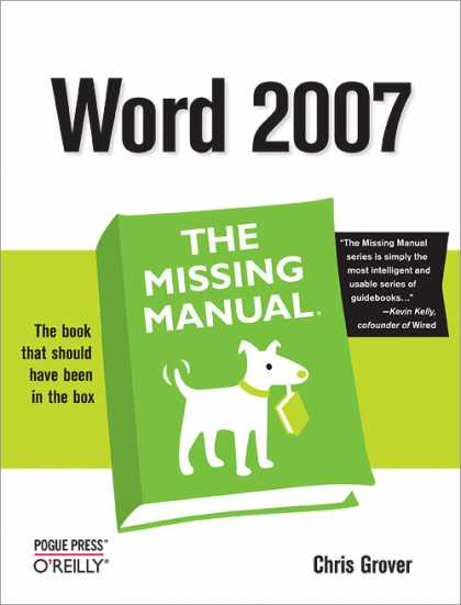 O'Reilly Books - Word 2007: The Missing Manual