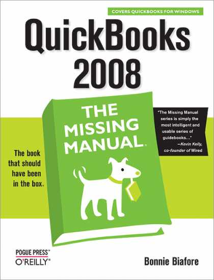 O'Reilly Books - QuickBooks 2008: The Missing Manual