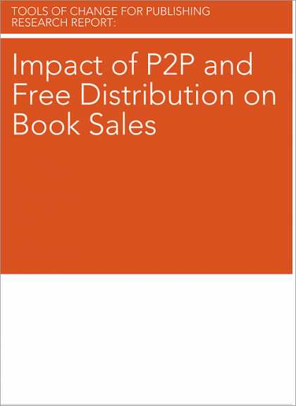 O'Reilly Books - Impact of P2P and Free Distribution on Book Sales