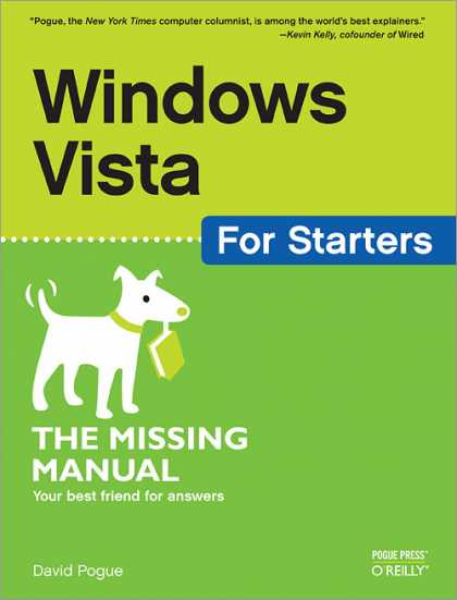 O'Reilly Books - Windows Vista for Starters: The Missing Manual