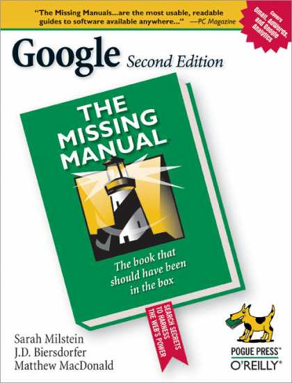 O'Reilly Books - Google: The Missing Manual, Second Edition