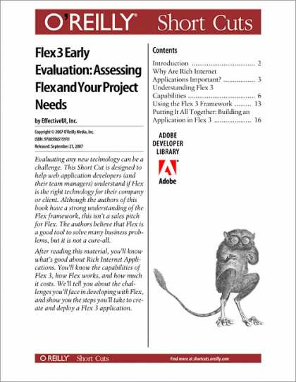 O'Reilly Books - Flex 3 Early Evaluation: Assessing Flex and Your Project Needs