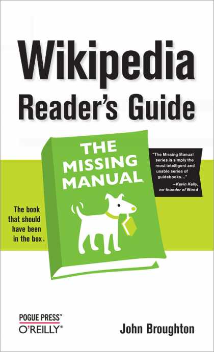 O'Reilly Books - Wikipedia Reader's Guide: The Missing Manual