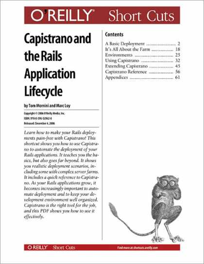 O'Reilly Books - Capistrano and the Rails Application Lifecycle
