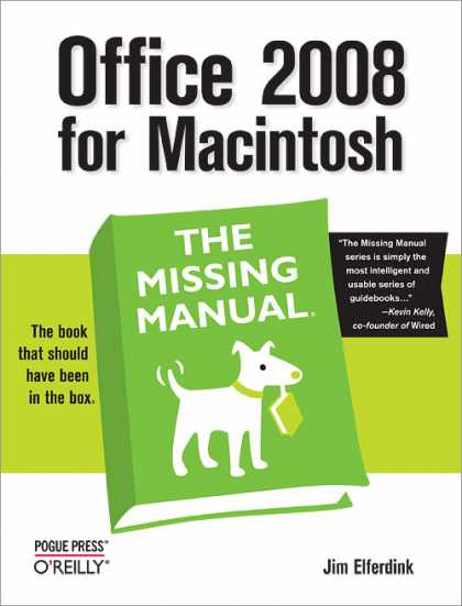O'Reilly Books - Office 2008 for Macintosh: The Missing Manual