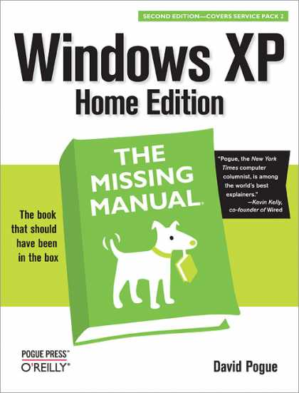 O'Reilly Books - Windows XP Home Edition: The Missing Manual, Second Edition