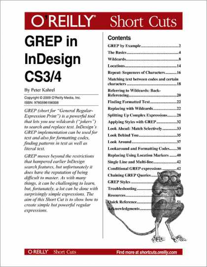 O'Reilly Books - GREP in InDesign CS3/CS4