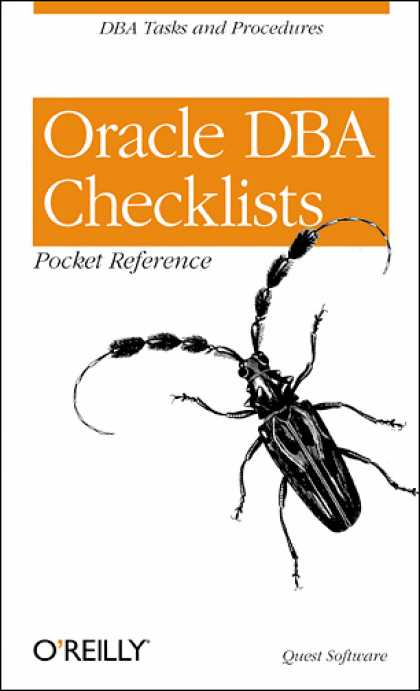 O'Reilly Books - Oracle DBA Checklists Pocket Reference