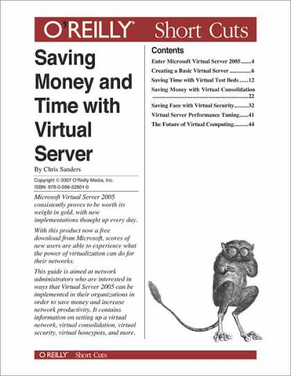 O'Reilly Books - Saving Money and Time with Virtual Server