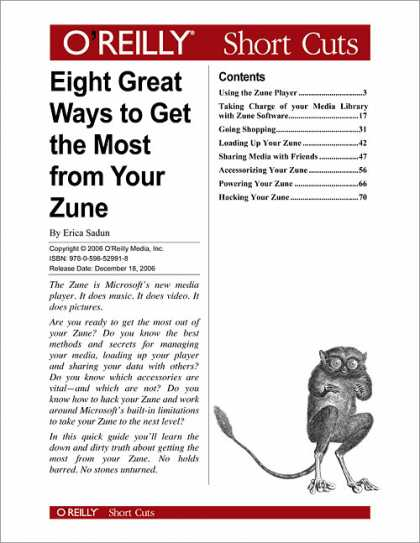 O'Reilly Books - Eight Great Ways to Get the Most from Your Zune