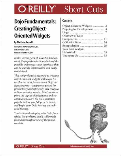 O'Reilly Books - Dojo Fundamentals: Creating Object-Oriented Widgets