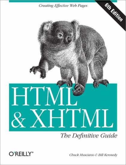 O'Reilly Books - HTML & XHTML: The Definitive Guide, Sixth Edition