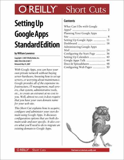 O'Reilly Books - Setting Up Google Apps Standard Edition