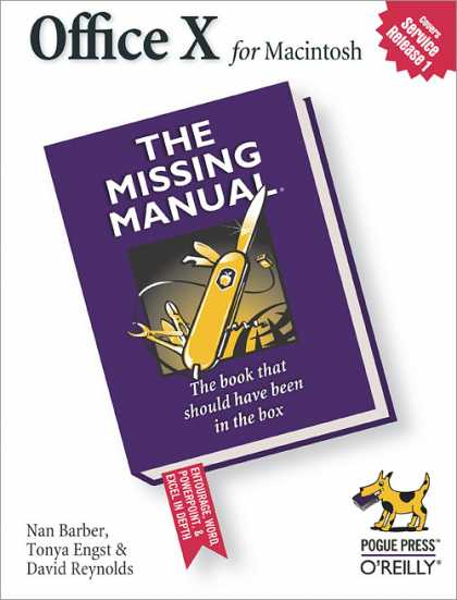 O'Reilly Books - Office X for Macintosh: The Missing Manual