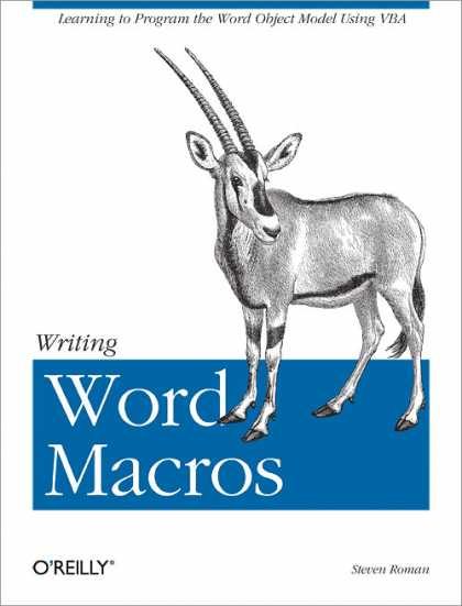 O'Reilly Books - Writing Word Macros, Second Edition