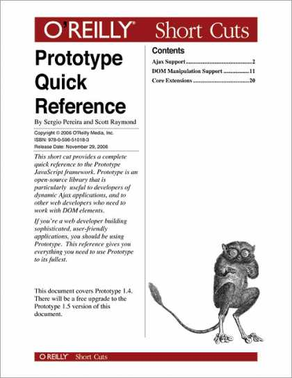 O'Reilly Books - Prototype Quick Reference