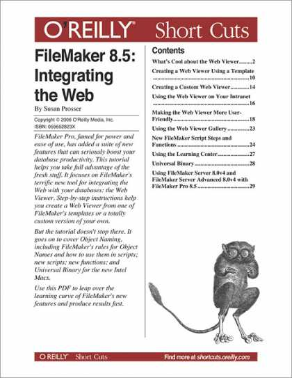 O'Reilly Books - FileMaker 8.5: Integrating the Web