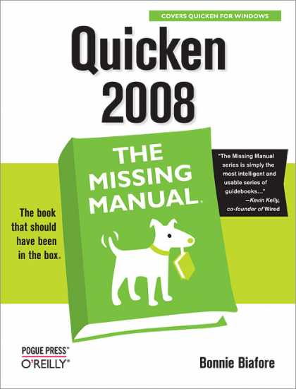 O'Reilly Books - Quicken 2008: The Missing Manual
