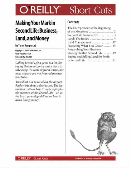 O'Reilly Books - Making Your Mark in Second Life: Business, Land, and Money