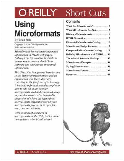 O'Reilly Books - Using Microformats