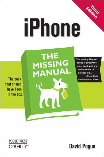 O'Reilly Books - iPhone: The Missing Manual, Third Edition