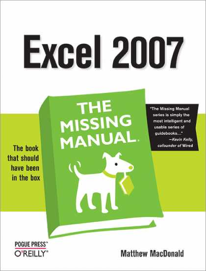 O'Reilly Books - Excel 2007: The Missing Manual